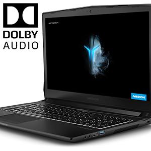 Dolby Audio Premium Audio de alta definición con 2 altavoces