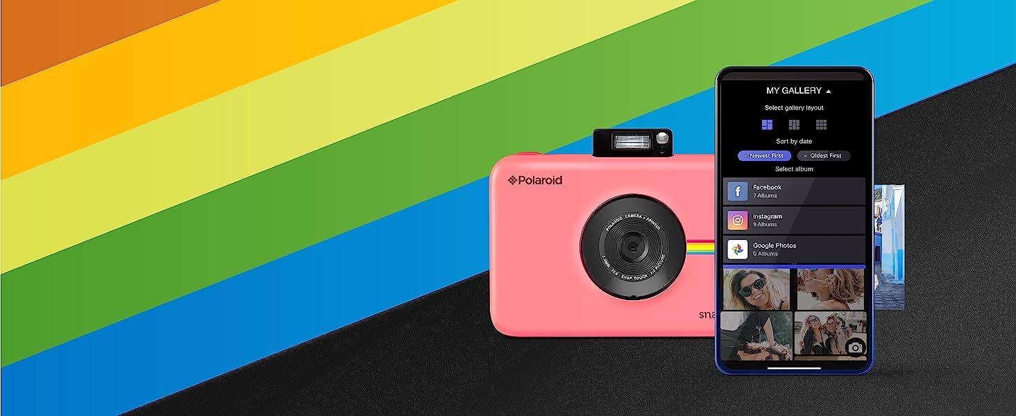 Polaroid snap touch instant printing app social media sharing
