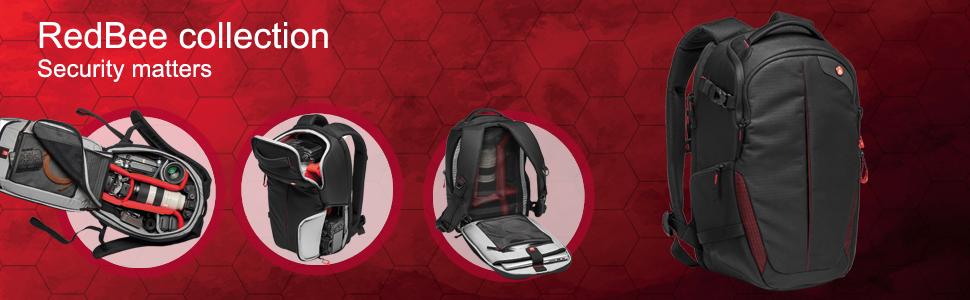Manfrotto;redbee;DSLR;protection;water resistant;versatile;comfortable;quick access;tripod