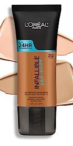 loreal makeup, pro glow foundation, infallible foundation, pro matte, demi matte, longwear
