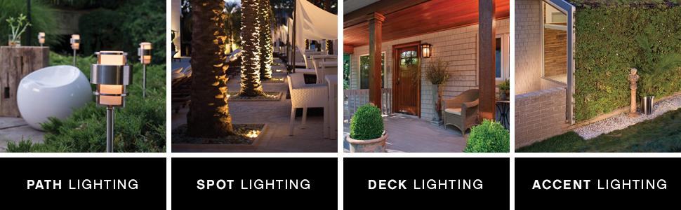 path lighting spot lighting deck lighting step lighting accent lighting spot lighting