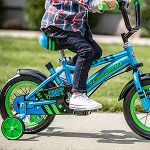 Grit Steerable Kids Bike Blue