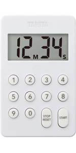 タニタ(Tanita) タイマー デジタル ホワイト 100分計 デジタルタイマー TD-415 WH