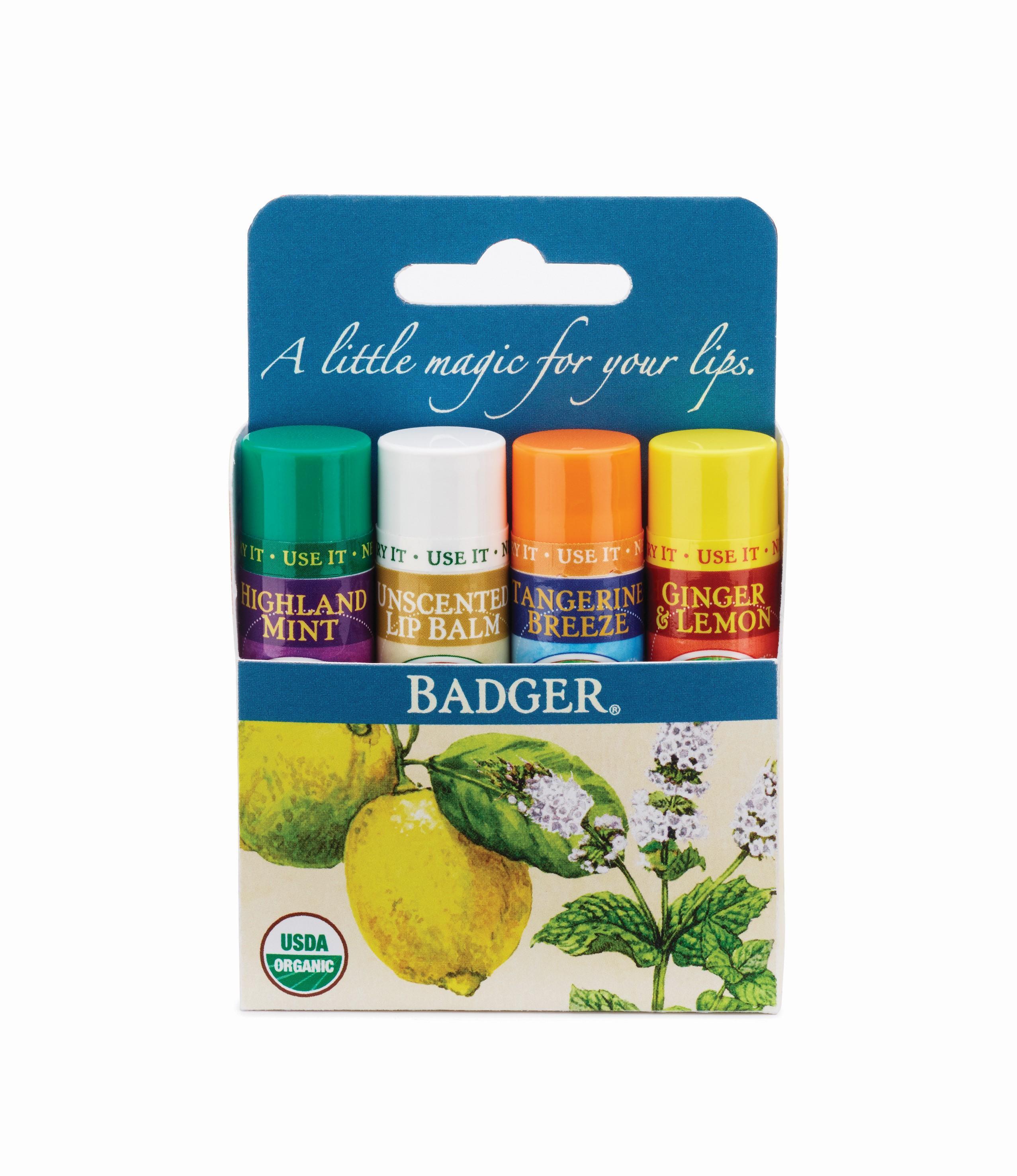Badger - Certified Organic Lip Balm Stick Pink Grapefruit - 0.15 oz. (pack of 1) Alba Botanica Acnedote, Deep Clean Astringent 6 oz (Pack of 2)
