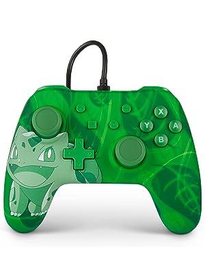 PowerA Mando con cable para Nintendo Switch: Pokémon – Bulbasaur: Amazon.es: Videojuegos