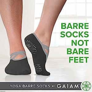 Gaiam Barre Socks