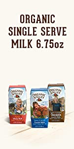 shelf stable milk, organic milk boxes, homogenized milk, single serve milk