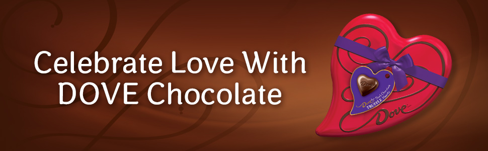 Give heartfelt indulgence with DOVE Valentine's Day Tins filled with assorted chocolates.