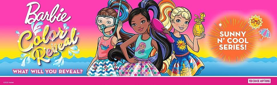 Mattel GTT23 mu/ñeca sorpresa color met/álico y brillo con accesorios de moda sorpresa Barbie Chelsea Color Reveal