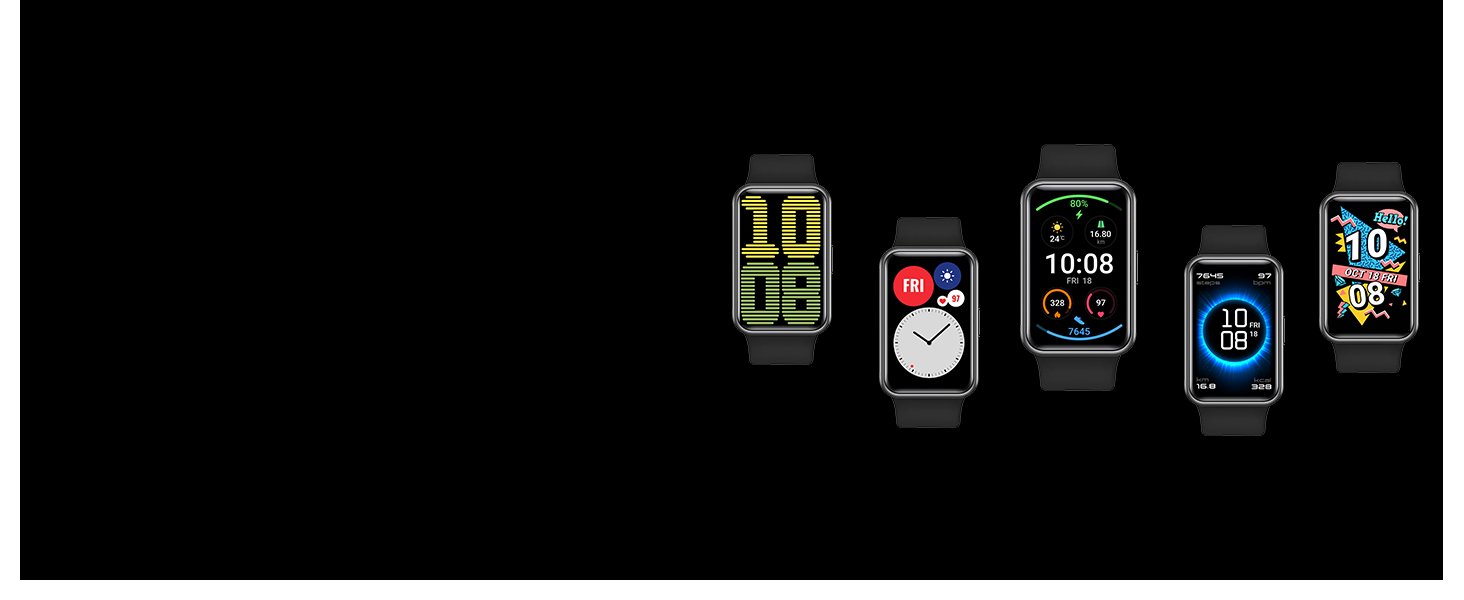 Watch faces;