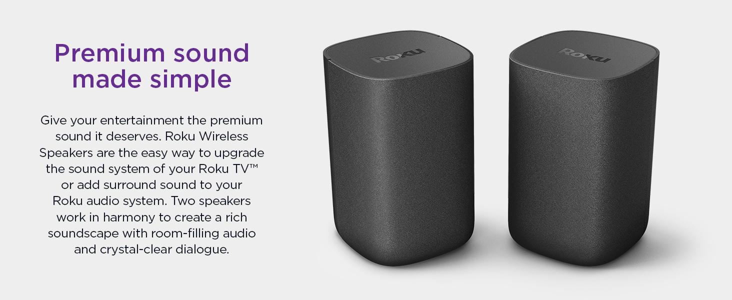 Roku wireless speakers premium sound made simple