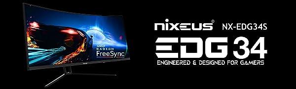 NX-EDG34, Ultrawide, Native 144Hz, UWQHD, 21:9, Gaming monitor, Ultra-wide, Ultra Wide, UWQHD