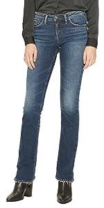 Amazon Com Silver Jeans Women S Suki High Rise Baby