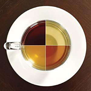 Cup with 4 different types of tea