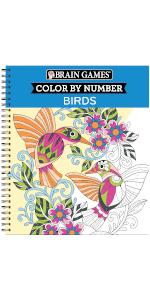 color by numbers for adults book grown up teen coloring book brain games bird