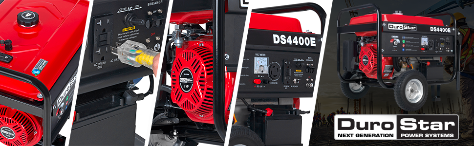 Duromax XP4400E Gas Powered Portable 4400 Watt Generator