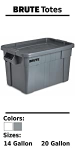Rubbermaid Commercial Products BRUTE Rollout Wheeled Trash Can Recycling Bin Home Driveway Garage