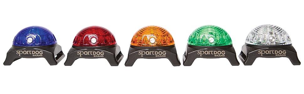 Bright flashing multicolored safety light locator beacon