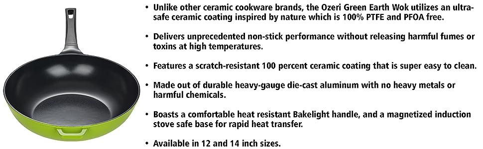 professional pan; ptfe free pan; restaurant cookware; saute pan; stir fry wok; nonstick frying