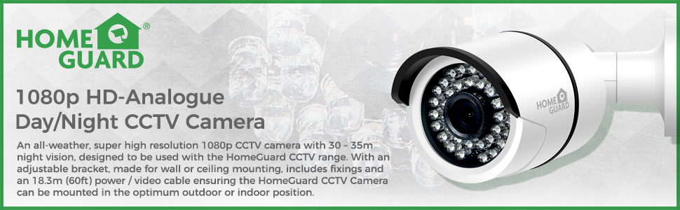 HomeGuard 1080p HD-Analogue Day/Night CCTV Camera
