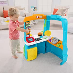 Amazon Fisher Price Laugh Learn Servin Up Fun Food Truck