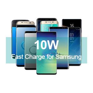CHOETECH® QI Cargador inalámbrico Certificado, QI estándar inalámbrico Pad de Carga para iPhone 8/8 Plus, iPhone X, Galaxy S9/S9 Plus, S8/S8 Plus, ...