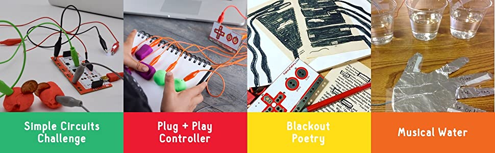 Simple Circuits Challenge - Plug + Play Controller - Blackout Poetry - Musical Water