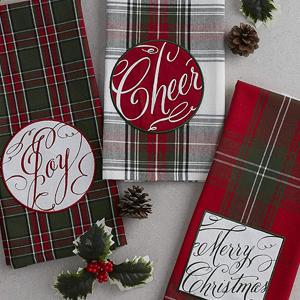jaquard,embroiered,printed,embellished,joy,cheer,merry christmas,seasonal,towels,bathroom,guest bath