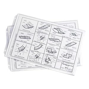 Ruby Paulina 11x17 Sheet Protectors Poly Archivable 556600 25 Sheets