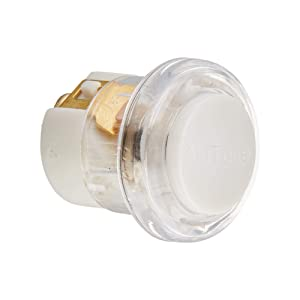 """NuTone PB18LWHCL Lighted Round Pushbutton, 13/16"""" Diameter, Clear/White"""