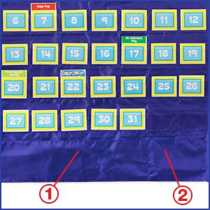 Amazon com carson dellosa cd 158156 deluxe calendar pocket chart