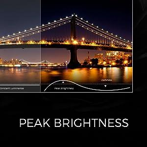 1000 peak brightness nits