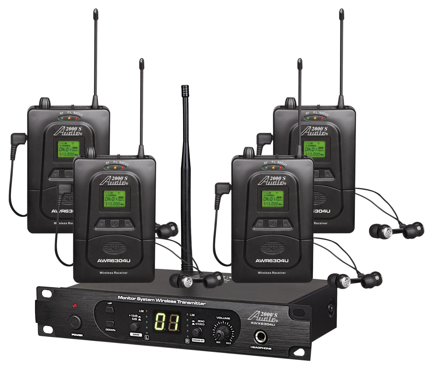 audio2000 39 s in in ear audio monitor system awm6304u musical instruments. Black Bedroom Furniture Sets. Home Design Ideas