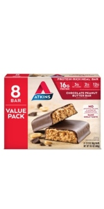 atkins low carb peanut butter chocolate meal bar