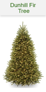 Dunhill Fir Trees with Dual Color Lights