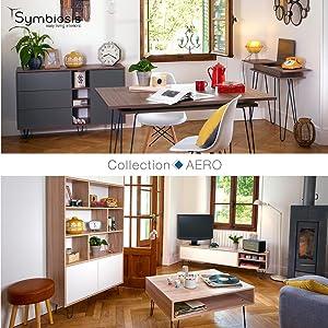 Symbiosis Vintage Fil Industriel Rétro Scandinave Design Rangement / Gain de place