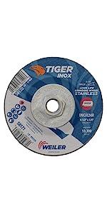 Weiler Tiger INOX Type 27 Grinding Wheel