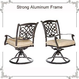 swivel chair set