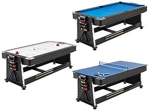 Mightymast Leisure 3 In 1 Pool Air Hockey Table Tennis Game