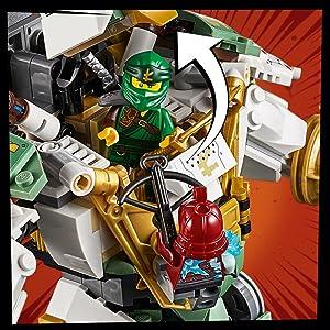 Amazon Com Lego Ninjago Lloyd S Titan Mech 70676 Ninja Toy Building Kit With Ninja Minifigures For Creative Play Fun Action Toy Includes Ninjago Characters Including Lloyd Zane Fs And More 876 Pieces Toys