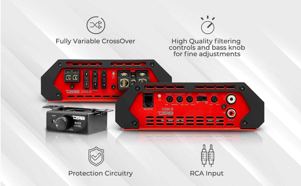 Monoblock 1 channel amplifier 3000 max power