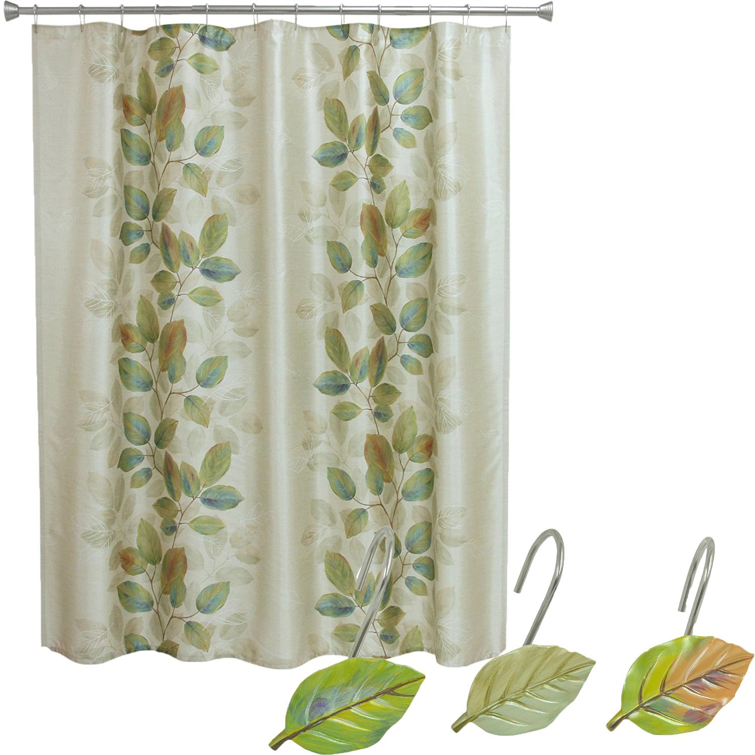 Amazon.com: Bacova Guild Shower Curtain, Waterfalls Leaves: Home ...