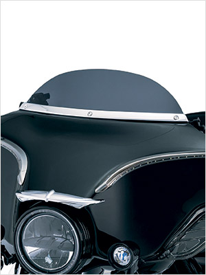 Kuryakyn motorcycle windshield accent to smooth design and style on your motorcycle appearance