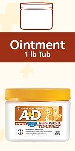 #1 Pediatrician Rec. A+D Ointment 1 lb tub, vit Aamp;D, prevent diaper rash,no dyes,parabens,phthalates