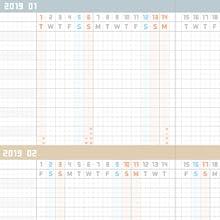 ジブン 手帳 2019 12月始まり kokuyo コクヨ スケジュール帳 ダイアリー リフィル 1月始まり マンスリー ウィークリー 週間 月間 月曜始まり 見開き1週間 24時間 平成31年