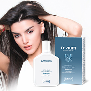 REVIUM INTENSIVE GRAY-REDUCING SHAMPOO WITH 1-MNA MOLECULE, FOR WEAK EXCESSIVELY FALLING OUT HAIR 200 ml