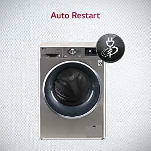 front load washing auto restart