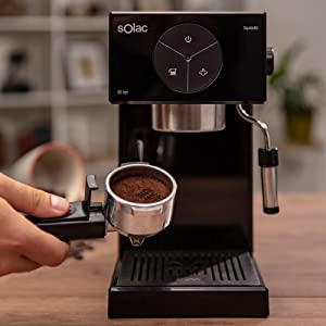 Solac S92011100 Ce4501 Squissita Cafetera, Doub Cream, Espresso y Cappuccino, 1 Cups, Acero Inoxidable, Multicolor: Amazon.es: Hogar