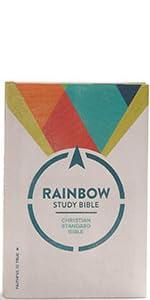 CSB Rainbow Study Bible, NKJV Rainbow Study Bible, NIV Rainbow Study Bible