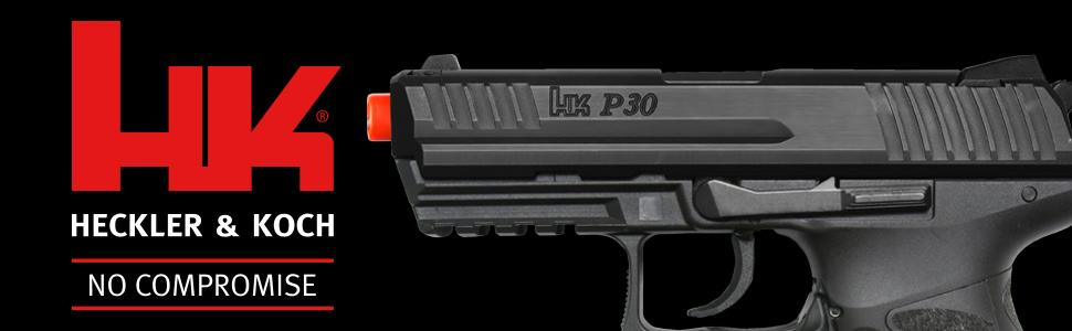 HK Heckler & Koch P30 Electric Blowback 6mm BB Pistol Airsoft Gun, Clear